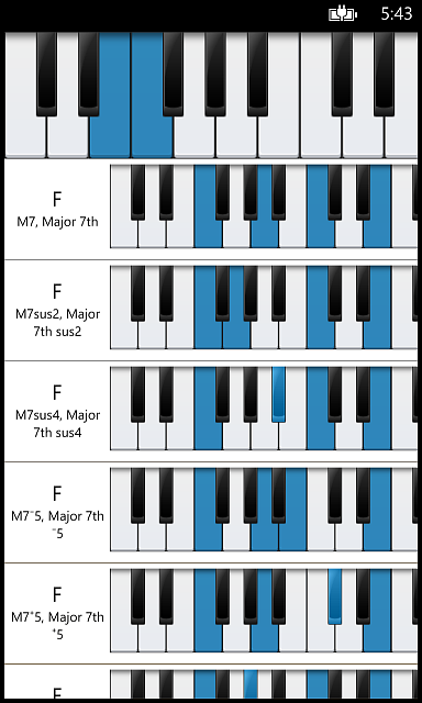 Piano Companion: chords, scales, circle of fifths, chord progression