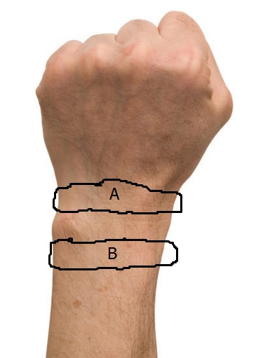 Question for Band 1 and 2 Owners: Where on your wrist do