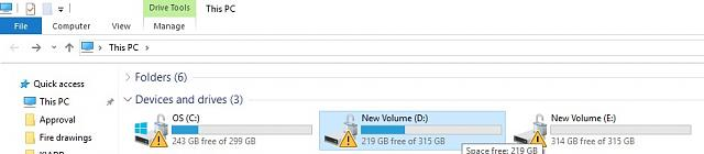 Yellow Triangle Warning Icon On C: Drive, what do I do? - Windows