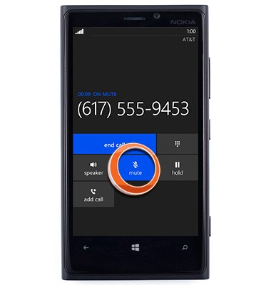 How to mute my Lumia 920 microphone during a tele-conference