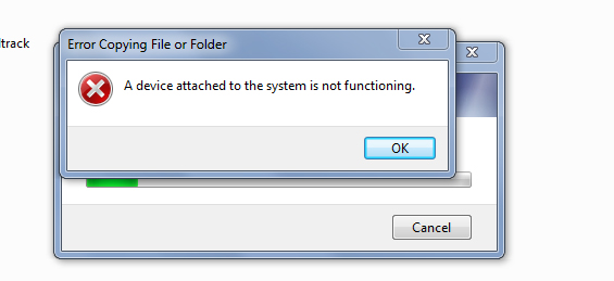 A Device Attached To The System Is Not Functioning Unique Device Not Functioning Can't Transfer Videos To PC Windows