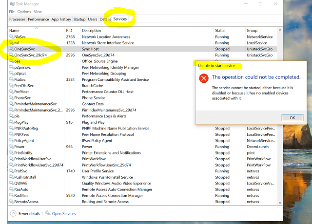 OneDrive totally disappeared from my Win10 on Surface 3 Pro