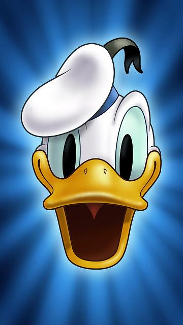 cute-cartoon-donald-duck-face-iphone-6-wallpaper-ilikewallpaper_com.jpg