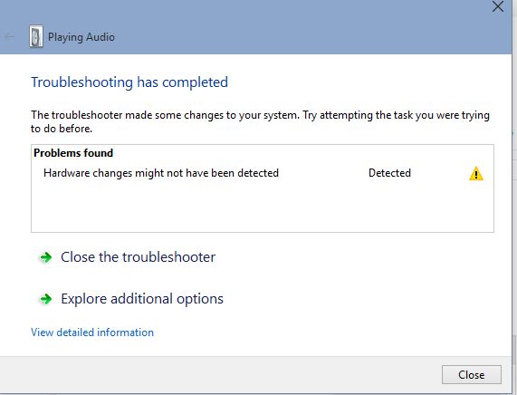 Installed: What Is No Audio Output Device Installed