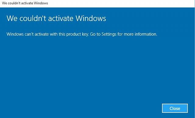Windows 10 Deactivated on build 10159  Can't activate, what