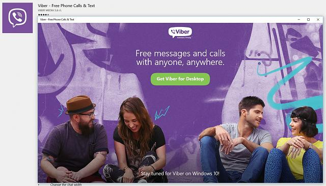 Viber is making an App designed for Windows 10! - Windows