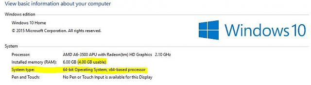 Why is it showing that I have 6 GB of RAM but only 4 GB usable
