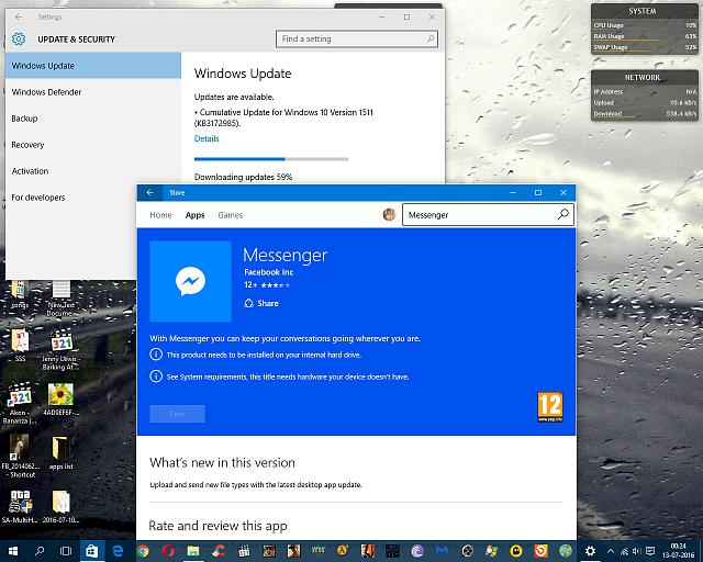 Why am I unable to install messenger for my PC? - Windows