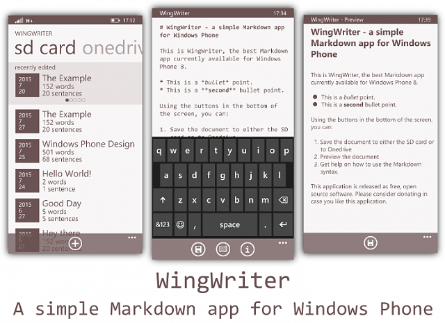 I love Markdown, but noticed that most (if not all) Markdown apps for Windows  Phone don't look that good. Therefore I made this concept,