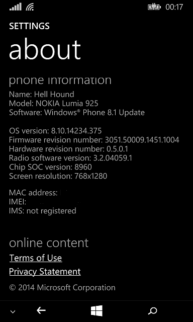 Wp8 1 virtual back/home/search buttons - Windows Central Forums