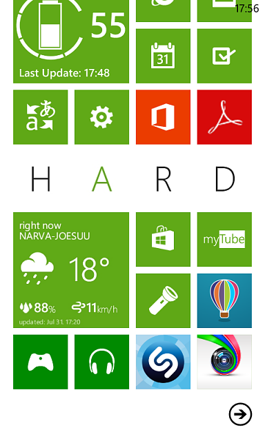 post your home screen and color theme windows phone