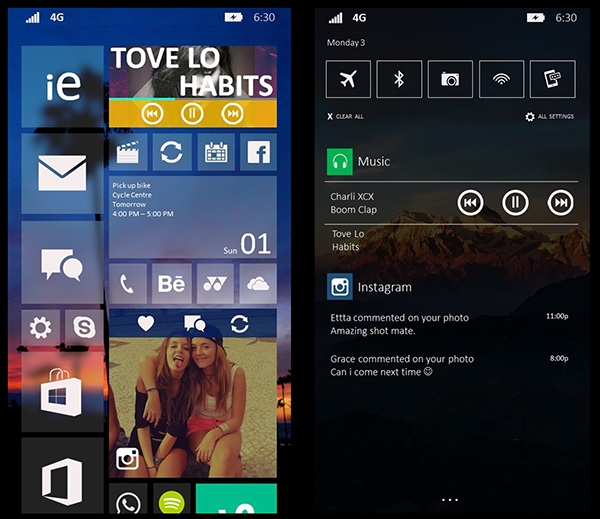 how to change photo tile on start screen lumia 635